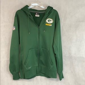 Nike NFL hooded zipper sweatshirt.